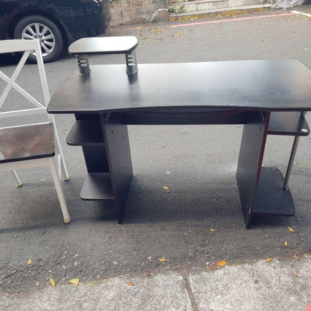 [限台北市自取]120x60 電腦桌 書桌 辦公桌 可收納 附椅子