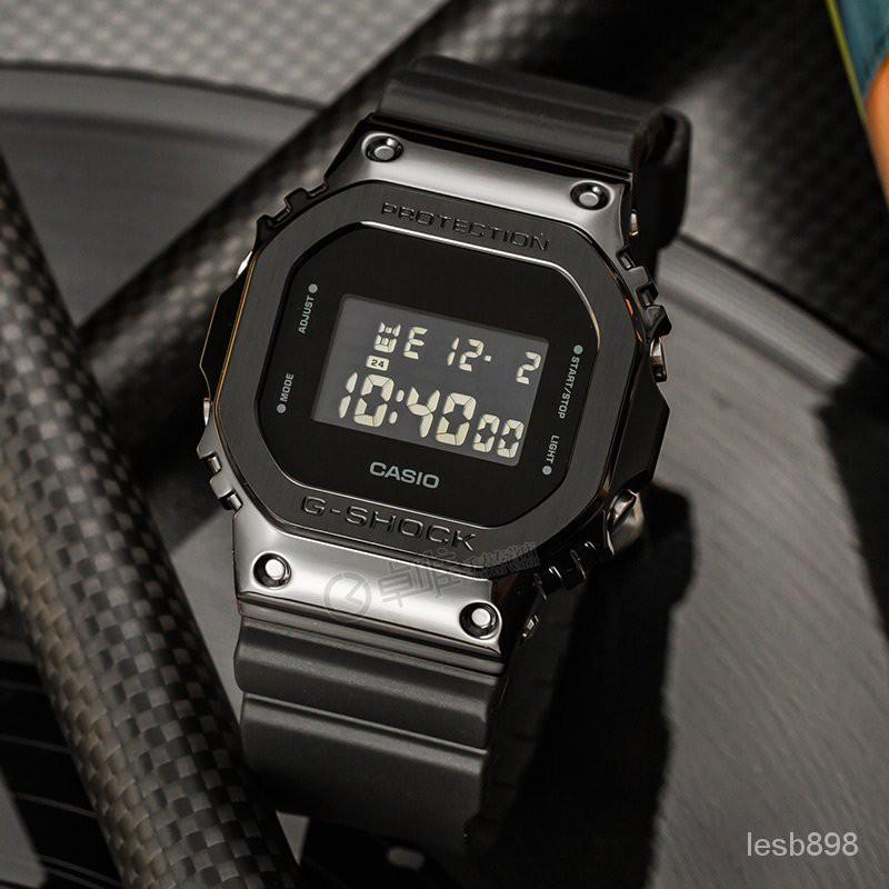 casio卡西歐手錶GM-S5600系列金屬小方塊防水運動女士手錶GM-5600