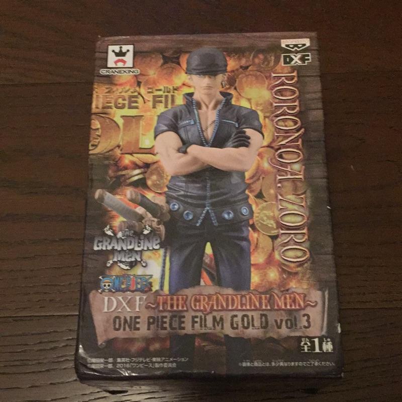 One piece 海賊王 DXF the grand line man 黃金城 索隆 金證 未拆