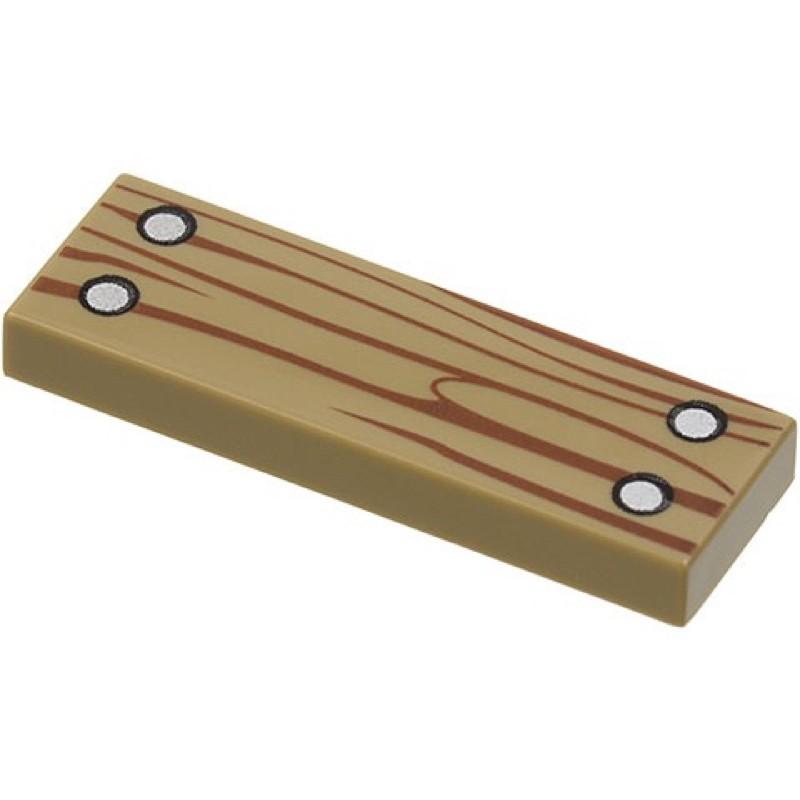 樂高 63864 21310 21318 深沙色 深米色 1X3 印刷 平板 平滑 木板 木片 配件