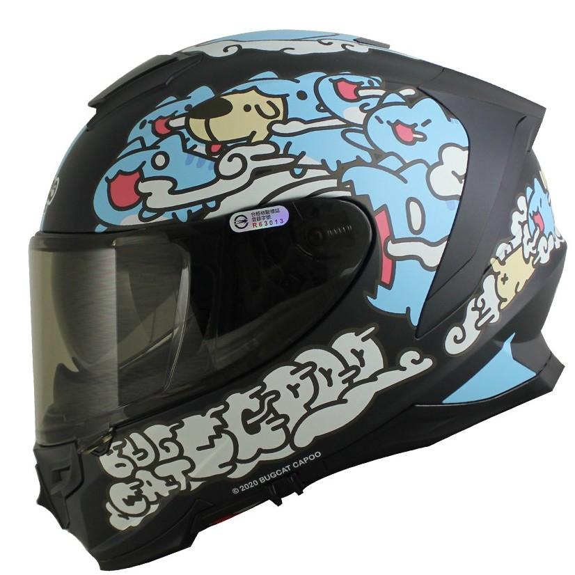 Nikko N806 N-806 咖波 聯名款 平光黑 全罩 內鏡片安全帽《送電鍍片或防霧片》