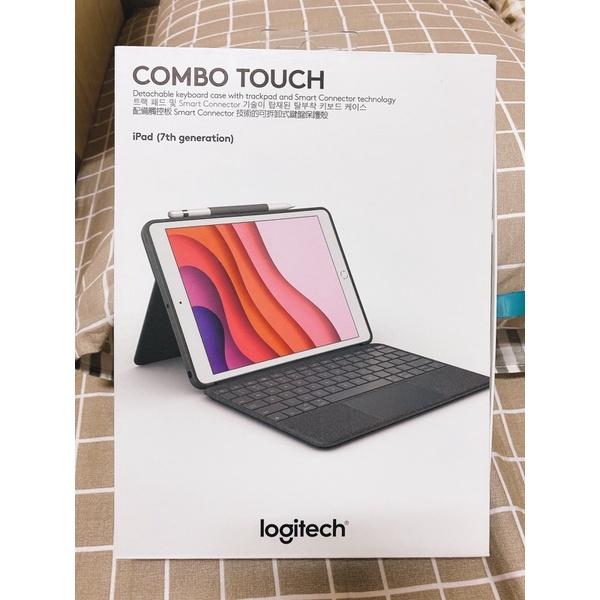 Logitech Combo Touch 鍵盤保護殼具備觸控式軌跡板/iPad 8/10.2寸/保固內