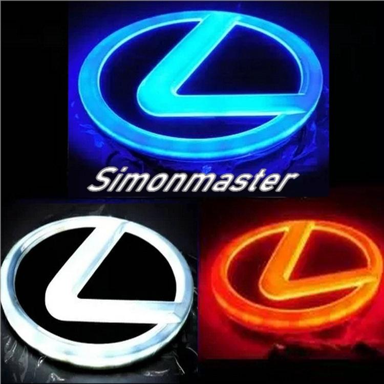 汽車 4d 前後 Led 發光燈自動防水尾燈貼紙裝飾配件, 用於雷克薩斯 Es250 Gs300 Gs350 Gs430