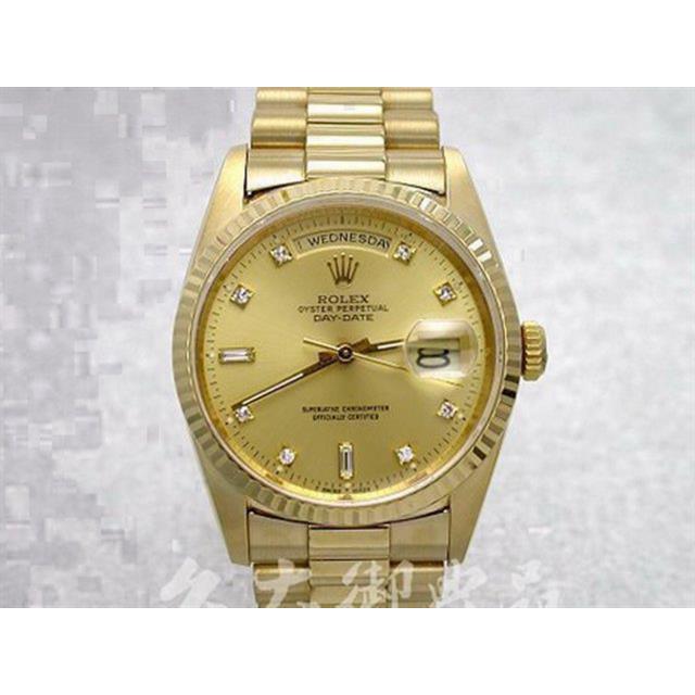 【米蘭二手手錶】C070416R 勞力士 18238 DAY-DATE(星期日誌) 紅蟳 鑽石標