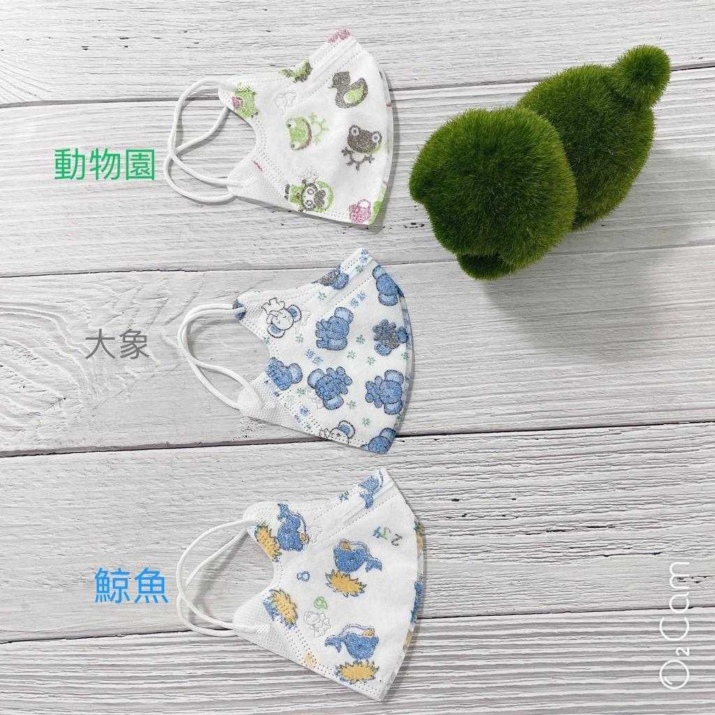 台灣巧護士X心姿所向商行【淨新醫用口罩】幼幼3D立體細耳繩 – 2至5歲《雙鋼印x台灣製》