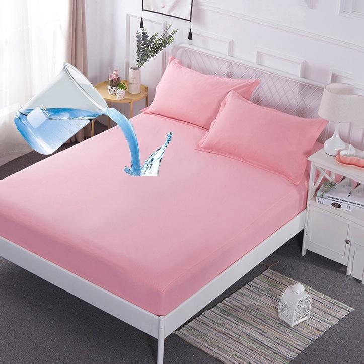 卡卡 床包式防水保潔墊 單人/雙人/加大雙人 加厚防水親膚面料 玉粉色