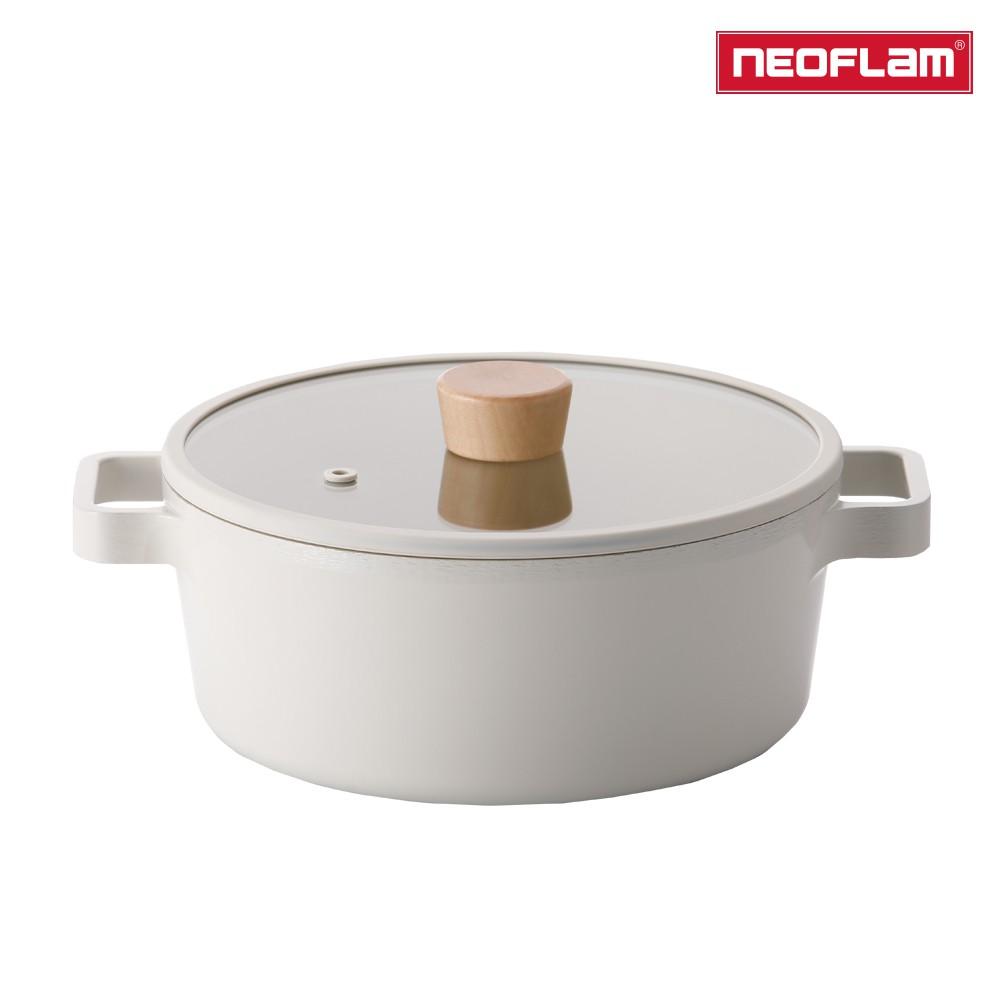 NEOFLAM FIKA系列 22cm 鑄造不沾雙耳湯鍋(IH、電磁爐適用) 2020全新系列新上市