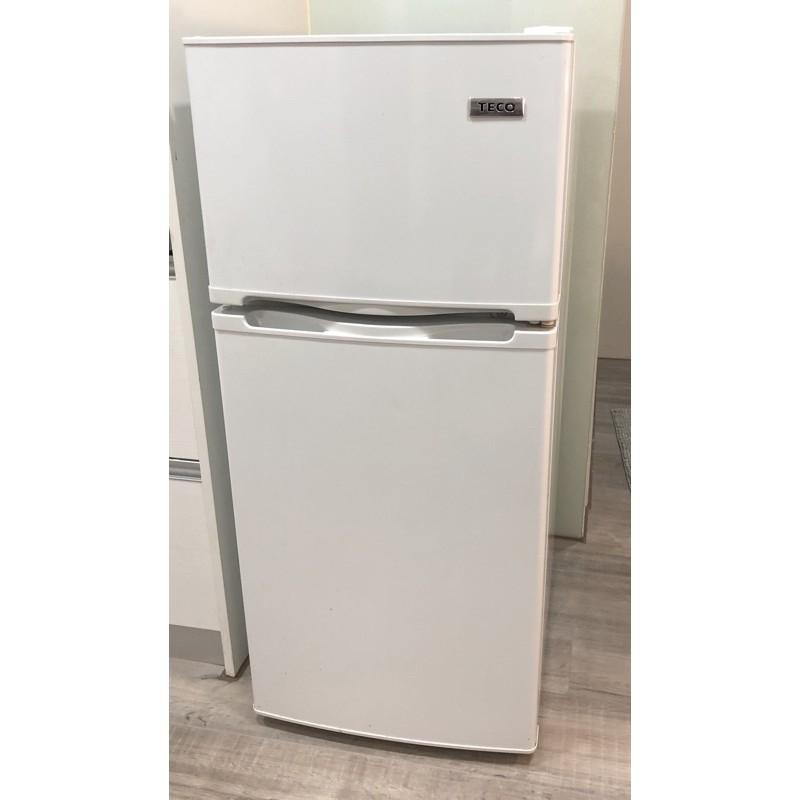 8成新 TECO R1303w 125公升冰箱