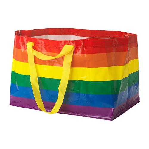 ikea 彩虹環保購物袋/購物帶 大容量71公升/小容量13公升