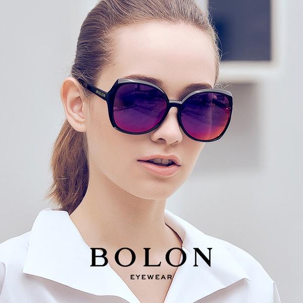 【BOLON 暴龍】 多色款顯瘦蝶形大矩方框太陽眼鏡 時尚流行款 多色可選 BL5011