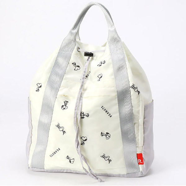 日本 ROOTOTE SNOOPY 史努比 刺繡 輕量 2WAY 手提後背包 雙肩包 CEOROO 4031