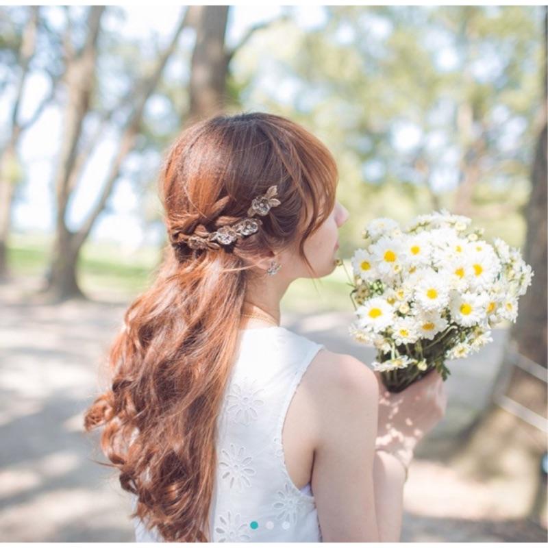 二手良品 新娘 髮箍 自助婚紗 自拍婚紗 輕婚紗 髮飾 puree