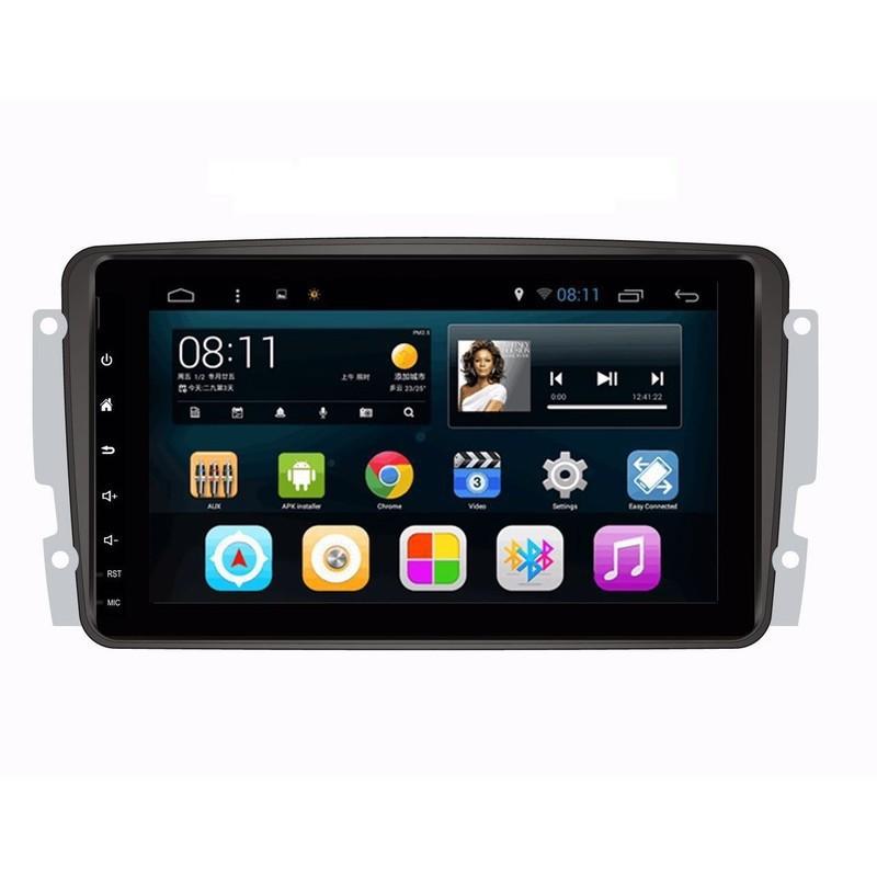 賓士W203 CLK W211 W219 SLK 9吋安卓主機 衛星導航+音樂+藍牙電話