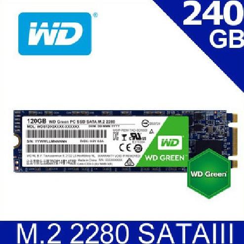 WD 綠標 Green 240GB M.2 2280 SATA 固態硬碟 Green 240G