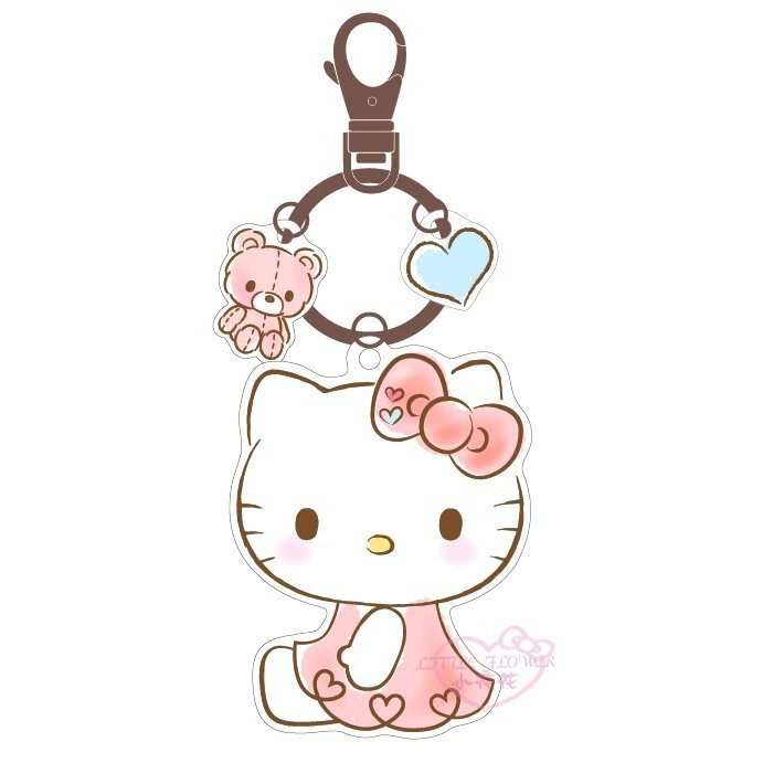 ♥小玫瑰日貨正版♥Hello kitty凱蒂貓造型悠遊卡- 造型悠遊卡愛心款 鑰匙圈可掛搭捷運必備-預3
