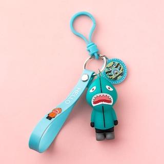 台灣現貨 潮牌 bape 鯊魚仔 鑰匙扣 掛件 創意 個性 汽車 男士 可愛 女 情侶 掛飾 鑰匙鏈 圈環 桃園市