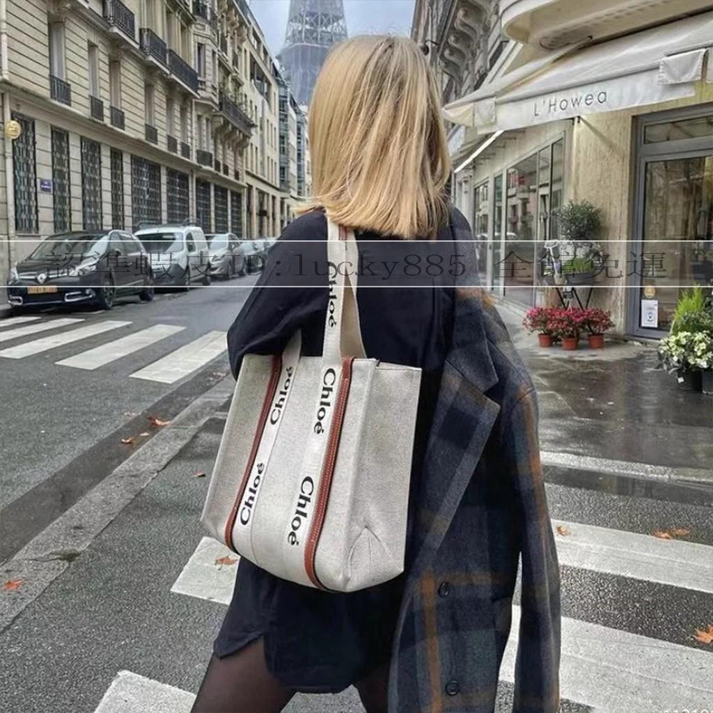 新品 頂級 Chloe Woody Tote Bag 托特包 手提包 肩背包