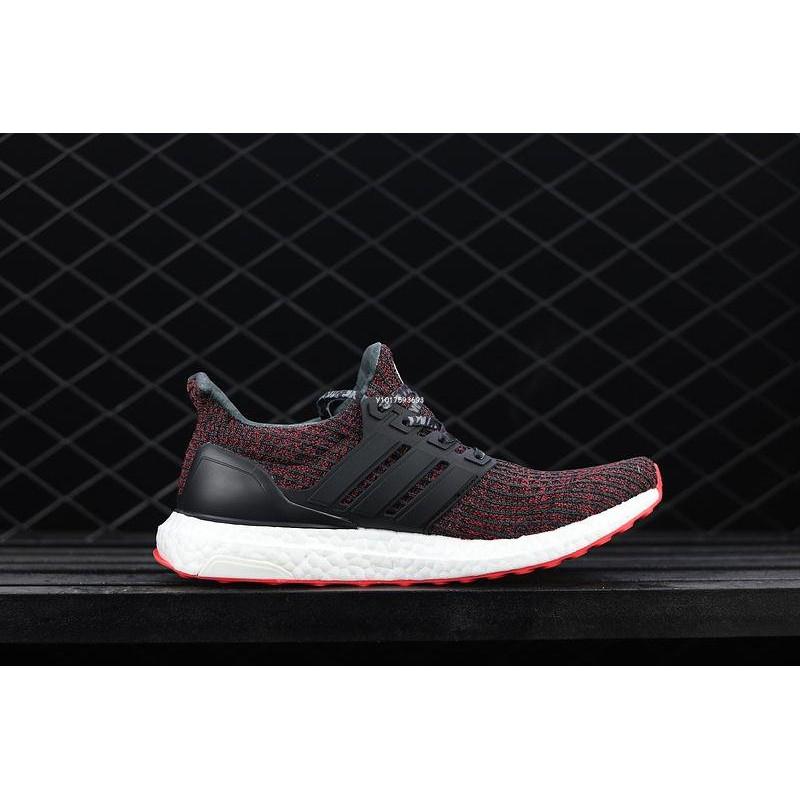 pretty nice 1c74b e8ca8 Adidas Ultra Boost 4.0 CNY BB6173 四代針織 條紋 灰紅 休閒運動 慢跑鞋 男