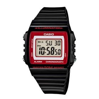 【春麗時間】全新 CASIO 果凍方塊 黑x紅 多功能電子錶 W-215H-1A2 (215 1 1A 2) 桃園市