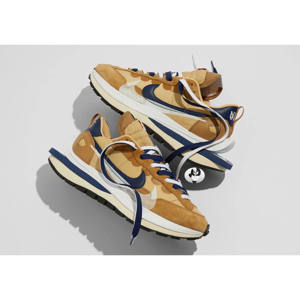 正品 Sacai x Nike Vaporwaffle 卡其 棕藍 奶茶 雙勾 聯名 紫 DD1875-200-500