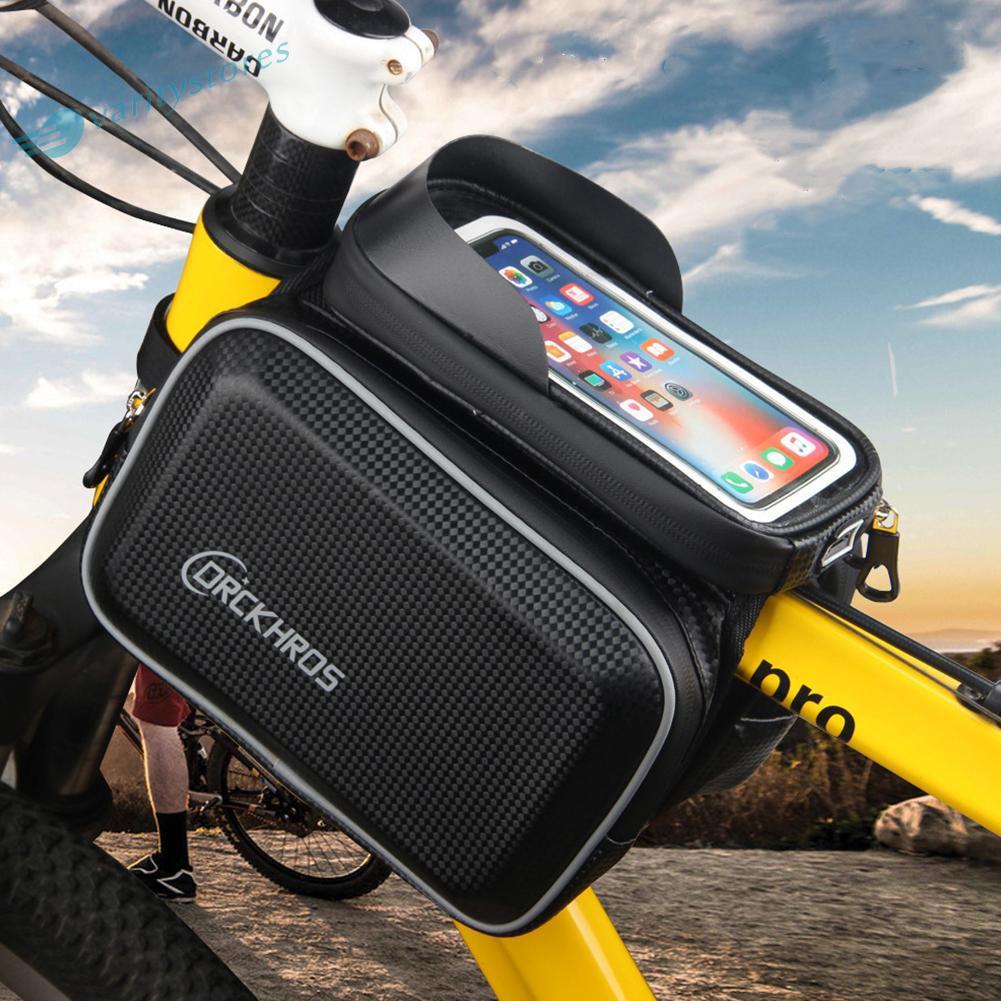 新產品自行車包前架山地車自行車硬殼防水頂管手機袋