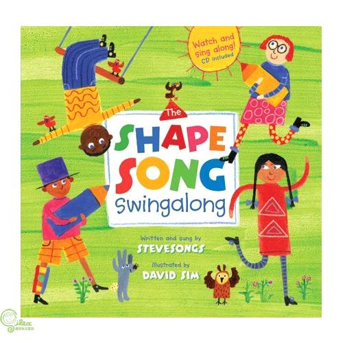 The Shape Song Swingalong (1平裝+1影音CD)【禮筑外文書店】(有聲書)[75折]