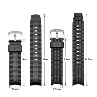 卡西歐 Edifice 系列錶帶 Ef-550 Ef-523 橡膠樹脂錶帶 Ef550 Ef523 錶帶腕帶手鍊