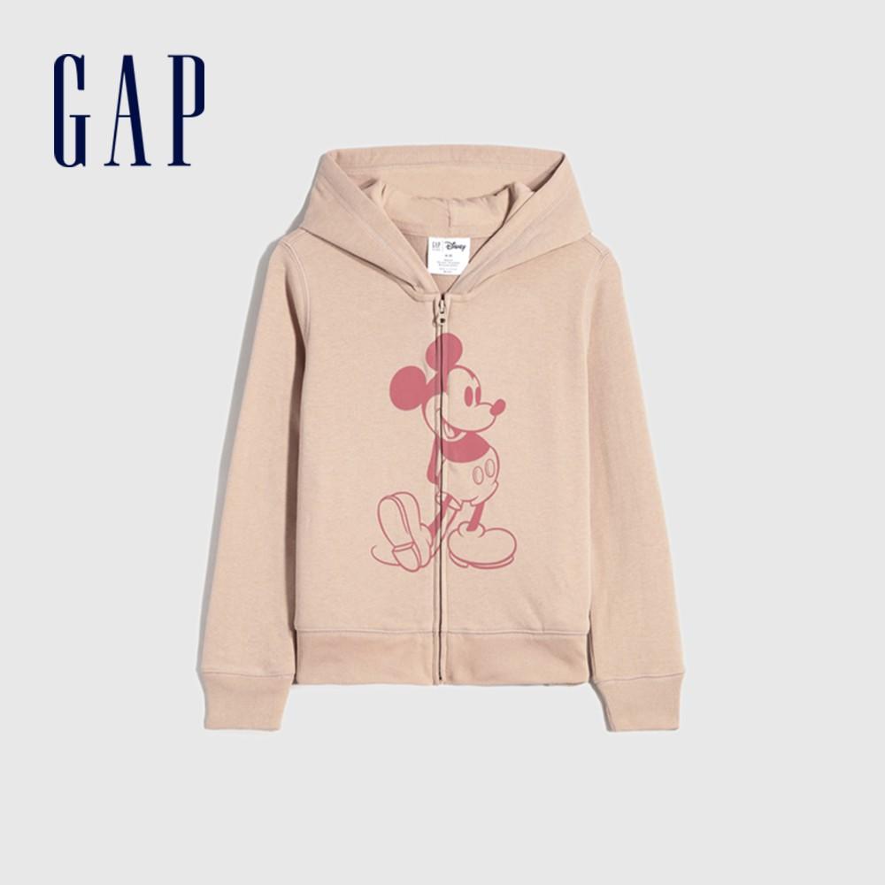 Gap 女童 Gap x Disney 迪士尼系列連帽上衣 672352-桃粉色