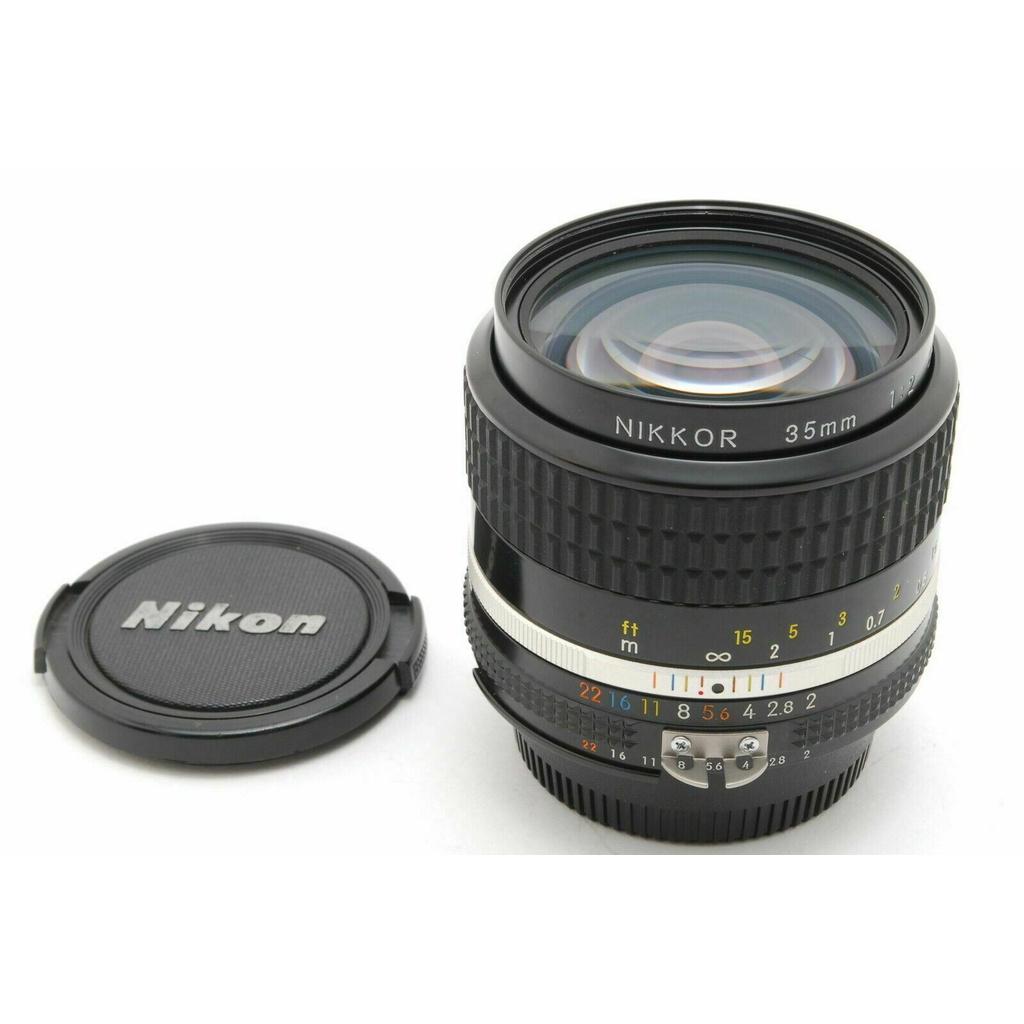 日本直送 胶卷 相机 Used NIKON AI-S NIKKOR 35mm F2 MF  #0553