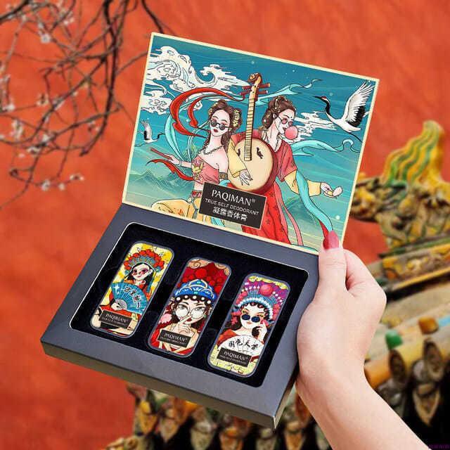 現貨熱賣尤莉尤拉PAQIMAN固體香膏持久留香清爽男女口袋香水套裝升級版