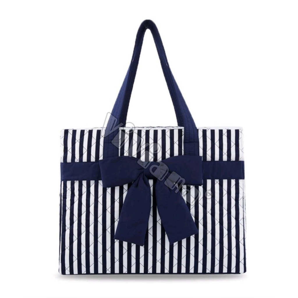泰國代購(促銷價格**限量) 泰國 NaRaYa 曼谷包 白底深藍直條紋 NB-99/M 大容量 旅行袋 旅行包 媽媽包