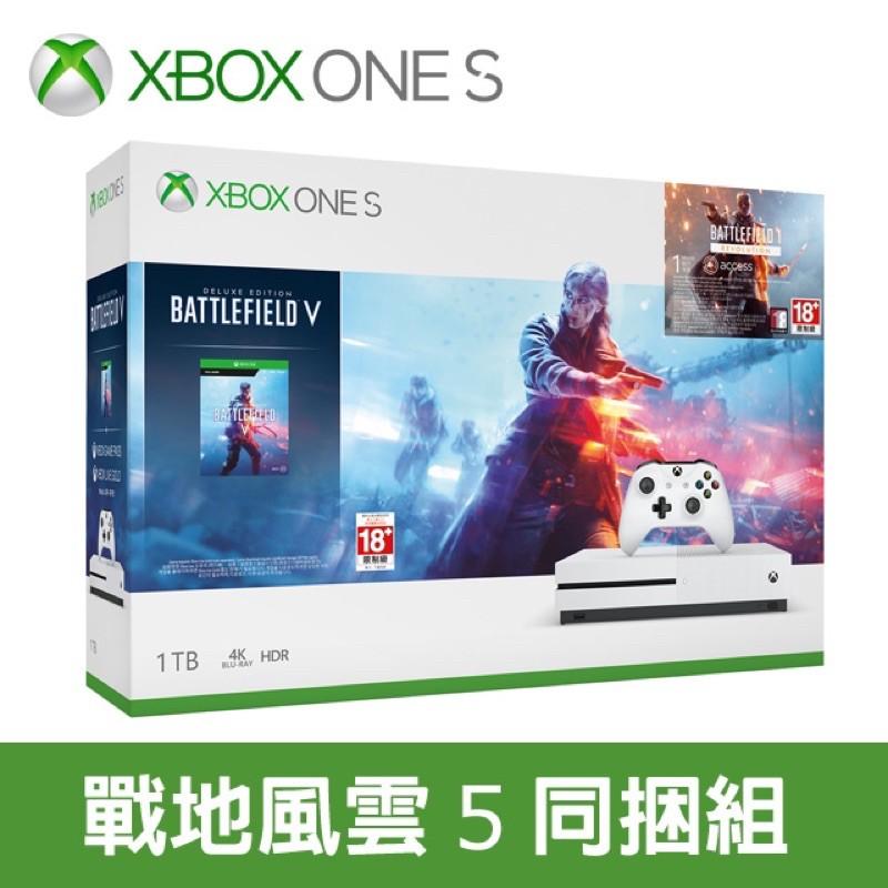 [免運]全新 XBOX ONE S 1TB 《戰地風雲5》 同捆組