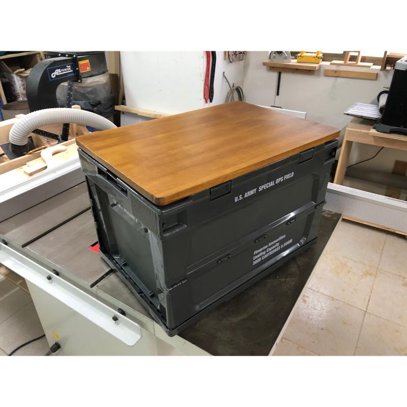 美軍風折疊側開收納箱 US A美軍風格 摺疊式箱專用箱板/收納箱/露營箱桌板(不含箱)