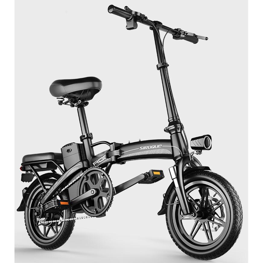可貨到付款!斯洛克新國標折疊電動自行車鋰電池代步代駕電瓶助力車小型電動車 品質保證