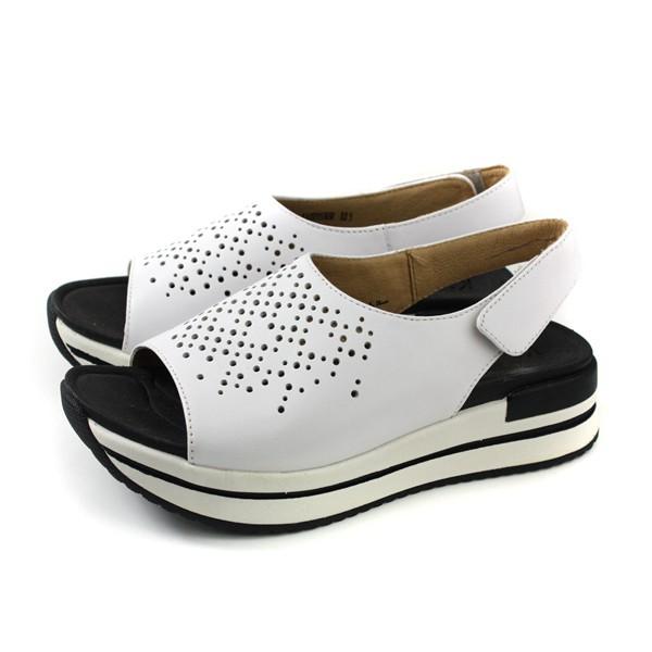 Kimo 涼鞋 厚底 女鞋 白色 KAISF153030 no805