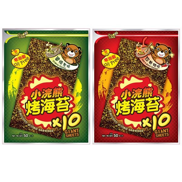 小浣熊 烤海苔(50g) 原味/麻辣【小三美日】團購/零嘴 D820383