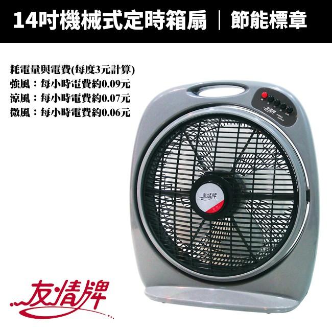 【友情牌】14吋機械式節能箱扇(KB-1480/KB-1488)