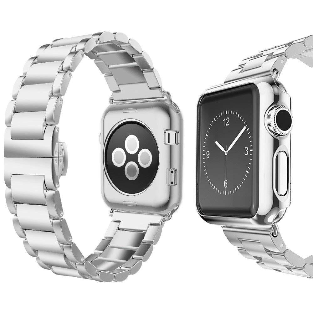 ✿ 代購幫 ✿Apple Watch Series 1/2/3 UMTELE 替換 不鏽鋼錶帶 4色可選 38/42mm