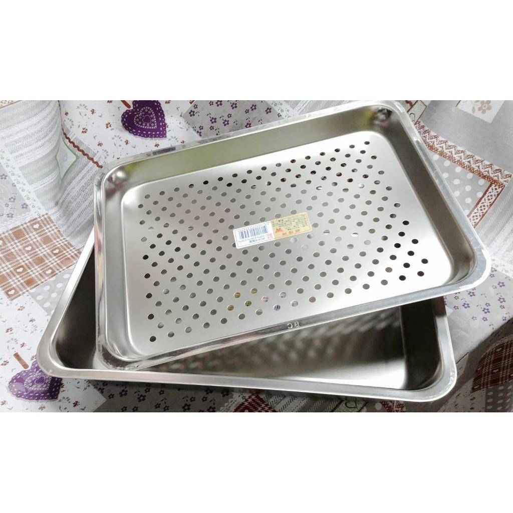 ☆現貨☆蝴蝶牌304不鏽鋼加深型茶盤 漏盤 長方盤 萬用盤 不鏽鋼方盤