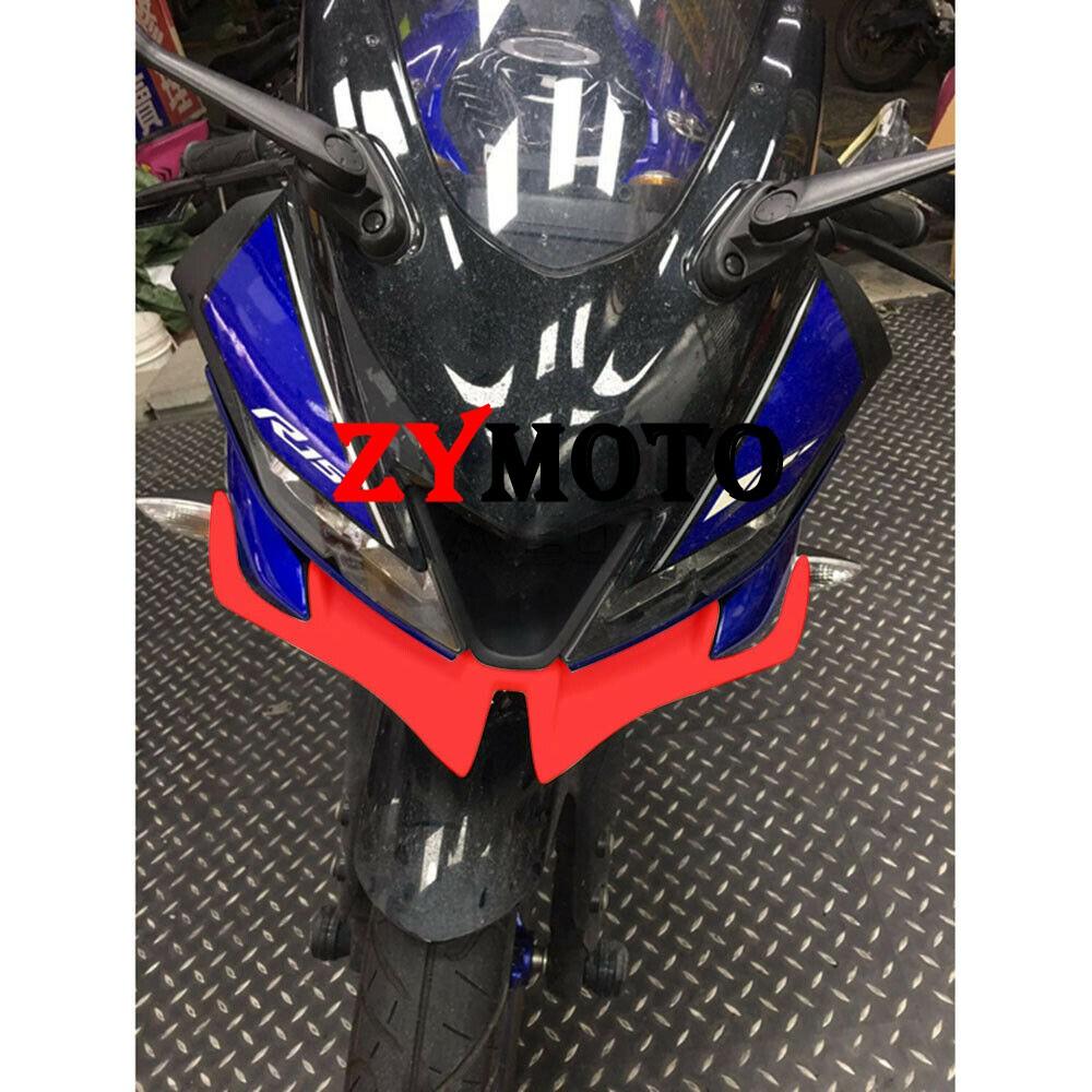 。適用摩托車改裝通用定風翼鳥嘴GIXXER 鈴木SF250碳纖維下唇破風刀