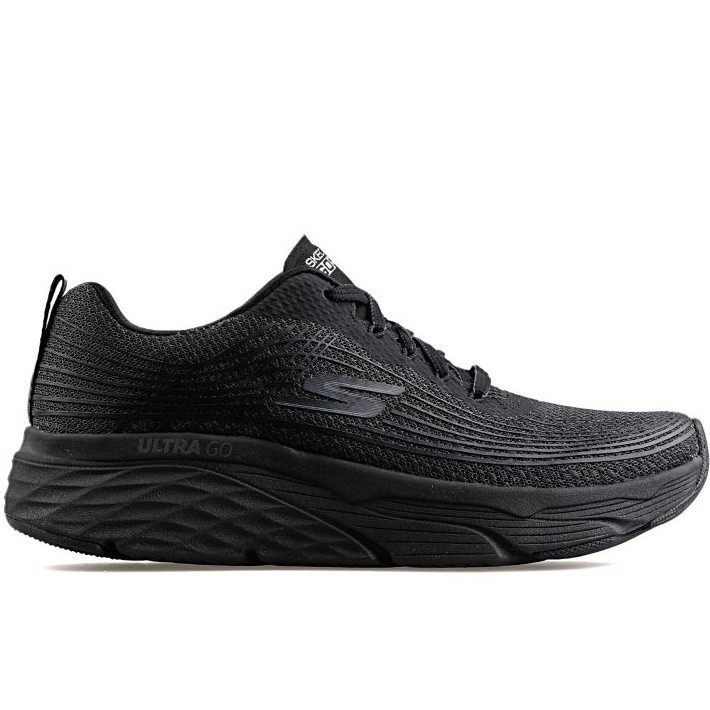 SKECHERS MAX CUSHIONING ELITE 全黑厚底慢跑鞋男 54430BBK