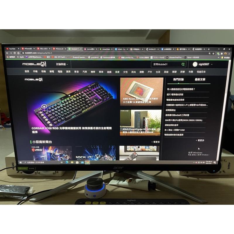 刮傷品Acer XV253Q P 25型IPS極速垂直旋轉HDR G-Sync144hz