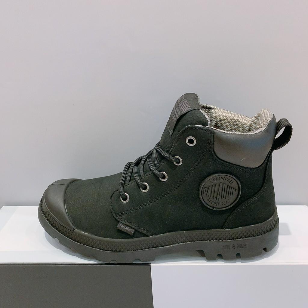 PALLADIUM PAMPA CUFF LITE+WP+LTH 男女款 黑色 皮革 防水 高筒靴 76464-008