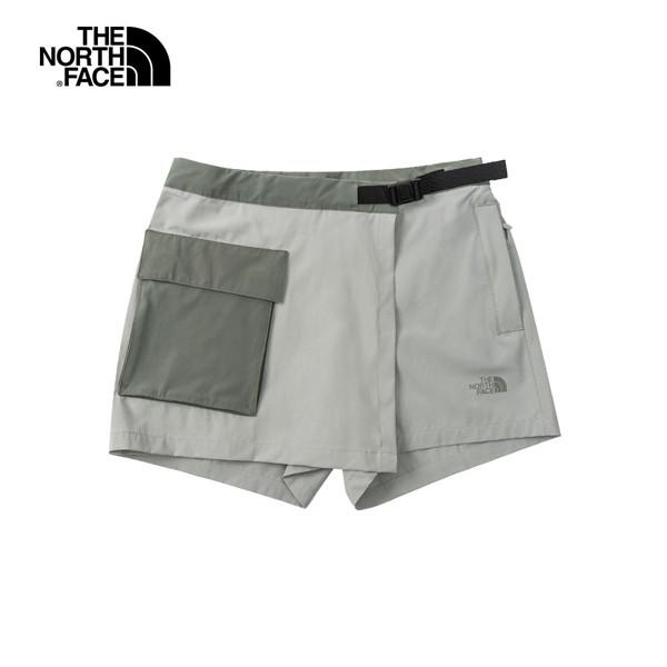 美國[The North Face]W Paramount Skort – AP / 女款防潑水拼接撞色休閒短褲