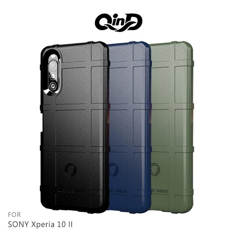 QinD SONY Xperia 10 II 戰術護盾保護套 鏡頭加高 保護套 手機殼