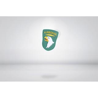 RST 紅星 - 101空降師 PVC徽章 臂章 識別章 美軍部隊章 黑色/ 綠色 ... 13011-134 台中市