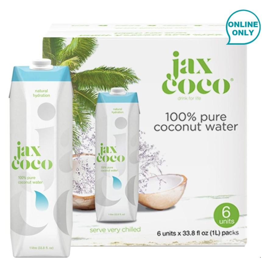 《好市多線上購物》Jax CoCo 純天然青椰子水 1公升 X 6入