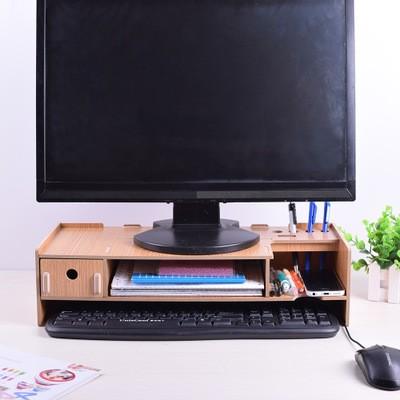 [好享買]DIY木質電腦螢幕架 螢幕增高底座 整理架 辦公收納架 桌上置物架 (預購款)