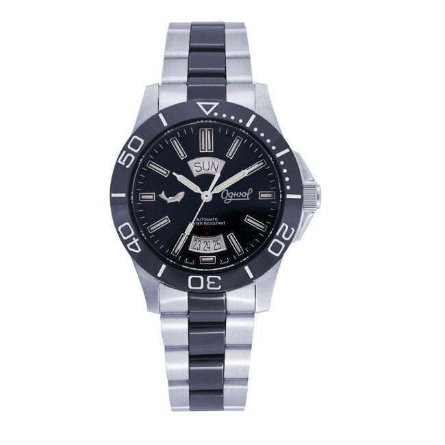 愛其華 Ogival (827-1ATMSB) 夜鷹飛梭系列氚氣燈管時尚機械腕錶 /40mm