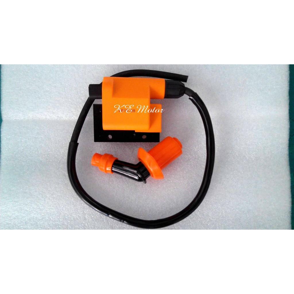 六期噴射GP/6期噴射GP125 加強點火線圈 (加強高壓線圈+矽導線) 考耳 /PS:短牙火星塞專用<台中 光一車業>